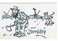 AUTOGRAPH LETTER SIGNED BY CLEVELAND PLAIN DEALER CARTOONIST JAMES H. DONAHEY, ENCLOSING AN ORIGINAL SIGNED SKETCH.