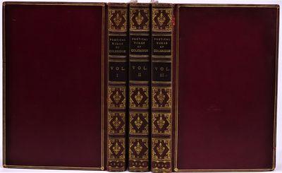 London: William Pickering, 1844. Three volumes in SIGNED Bartlett & Co., Boston contemporary red mor...