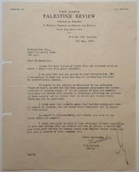 "Exceedingly Rare and Important Typed Letter Signed as ""Eliahu Epstein"
