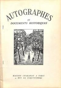 Bulletin Supplémentaire no.18/1957 : Autographes et Documents Historiques