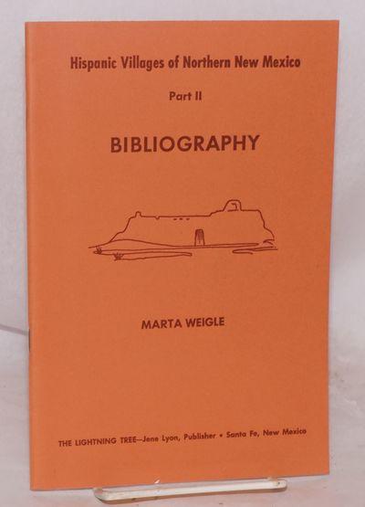 Santa Fe: The Lightning Tree, 1975. 40p., 6x9 inches, map, addenda, very good reprint of the 1935 Te...