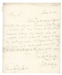 "Autograph Letter, signed (""T.F. Dibdin""), to Francis Freeling"