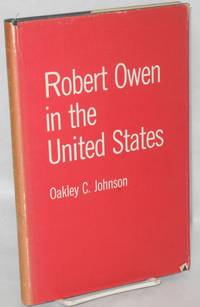 image of Robert Owen in the United States. Foreword by A.L. Morton