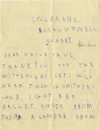 image of Autograph note signed from Angelica Huston to Paul Kohner