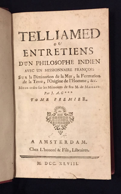 Amsterdam: Chez l'honore et fils, libraires, 1748. First Edition. Hardcover. Very good. 2 vols. in o...