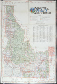 Idaho Highway Map of Vacation Land 1946-47.  (Map title: Highways of the State of Idaho 1946 and 1947).