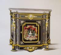 Album of watercolor renderings of furniture designs