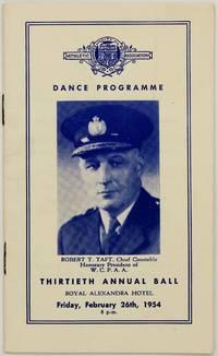 Dance Programme; Thirteenth Annual Ball, Royal Alexandra Hotel