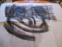 Original Drawing: Study For A Modernist Sgraffito Mural At The Bel Air Bay Club (Badminton)