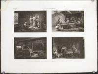 Arts et Metiers. 1. Le Meunier. 2. Le Boulanger. 3. Le Confiseur ou Fabricant de Pates Sucrees. 4. Le Patissuer.