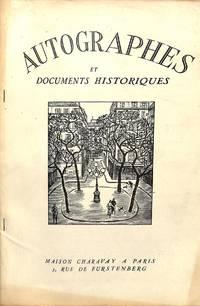 Bulletin Supplémentaire no.4/1952 : Autographes et Documents Historiques