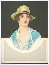 image of Julia.  Die cut & embossed lithograph