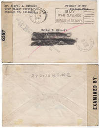Returned mail sent to a World War II Marine who was captured on Corregidor and died in a Japanese prison camp