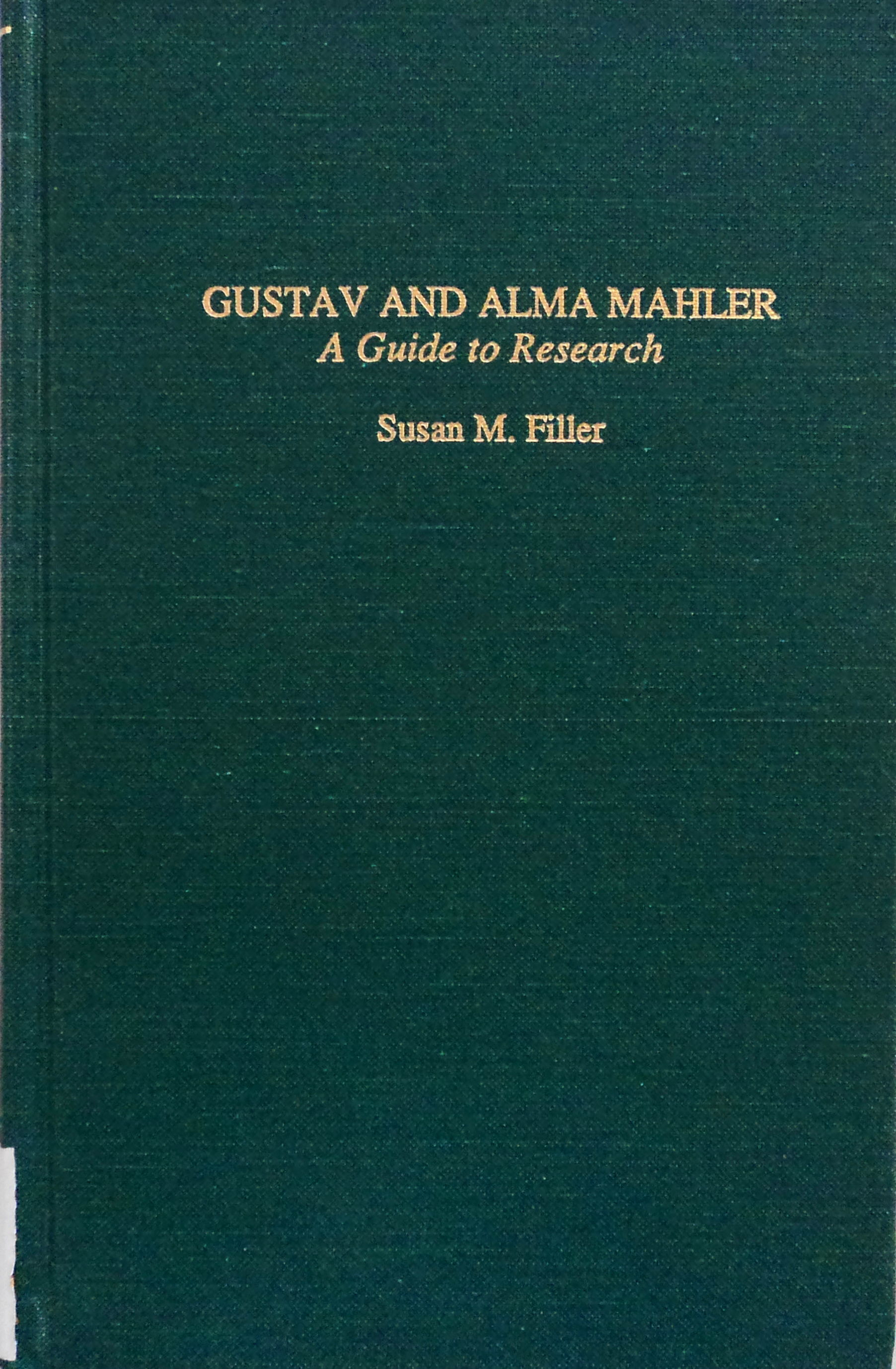 Cover Art for Gustav and Alma Mahler: A Guide to Research