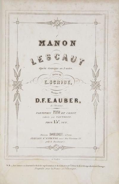 Paris: Boieldieu... Sylvain St. Etienne succr. , 1856. Large octavo. Half red calf with red textured...