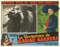 image of La venganza de Gabino Barrera (Collection of six original lobby cards for the 1971 film)