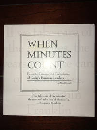 WHEN MINUTES COUNT