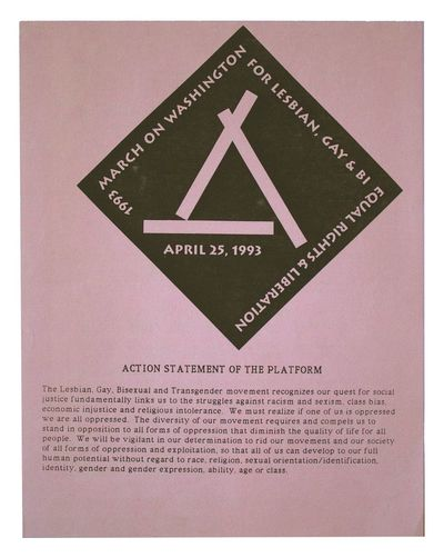 New York: March on Washington, New York Organizing Committee, 1992. Fine. New York City: March on Wa...