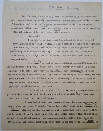 1965. unbound. 2 pages (front and back), 11 x 8.5 inches, no place, no date, circa 1965. Typed on pl...