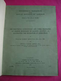 Bound  Collection of 4 Philosophical Transactions of the Royal Society of London Inc. ELECTRICAL CONDUCTIVITY AND OTHER PROPERTIES OF SODIUM HYDROXIDE;
