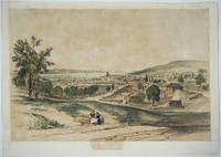 'Hobart Town from The New Town Road', Scarce color lithograph from 'Tasmania Illustrated'