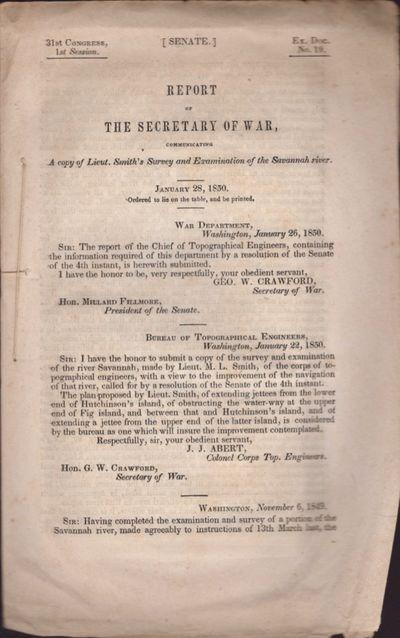 Washington DC: United States War Department, 1850. Wraps. Good. Stitched wraps. Approx. 10