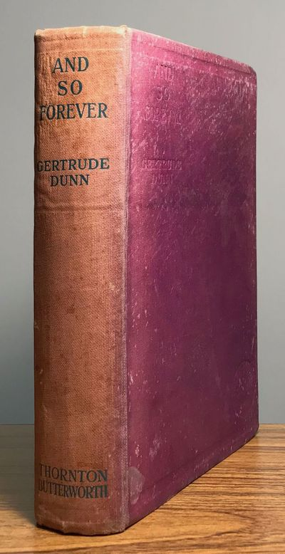 London: Thornton Butterworth, 1929. Octavo, pp. 11-285 , original purple cloth, spine panel stamped ...