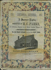 A Japanese Napkin, presented by H.C. Parke, China, Japan and East India Depot. Oriental and Fancy Goods
