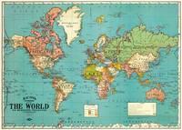 World map decorative paper (Spanish Edition)