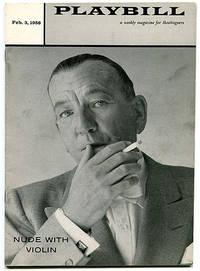 Playbill Vol. 2 No. 5: Nude With Violin (Feb. 3, 1958, Belasco Theatre, New York)