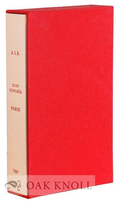 Paris: Association Internationale de Bibliophile, 1991. cloth-covered slipcase. A.I.B.. small 8vo. c...