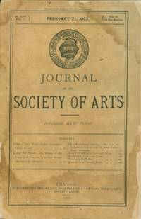 Journal of the Society of Arts, Friday, Feb. 21, 1902, No. 2,570, Vol. L