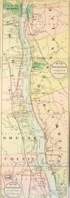 View Image 3 of 3 for The Hudson by daylight. Map showing the prominent residences, historic landmarks, old reaches of the... Inventory #54931