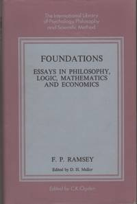 foundations essays in philosophy logic mathematics and economics It consists of six taught units, examined by essay, and a 15,000-word dissertation   students who completed the ma in logic and philosophy of mathematics.