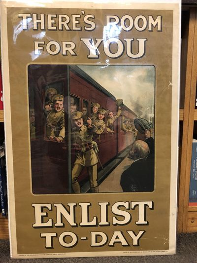 London: The Parlimentary Recruiting Committee, 1915. A full color British army recruiting poster fro...