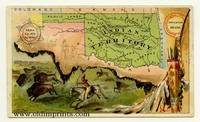 Indian Territory.  Arbuckle Bros. Coffee Co. trade card: map and vignette illustrations.