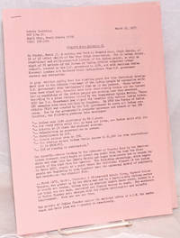 image of Wounded Knee Bulletin #1. March 19, 1973
