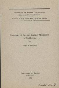 image of Mammals of the San Gabriel Mountains of California