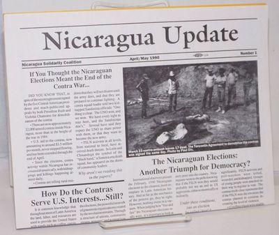 San Francisco: Nicaragua Solidarity Coalition, 1990. Single 11x17 inch sheet folded horizontally, wi...