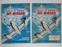 image of Battle of Britain at home: Royal Air Force, Newton, Saturday 20th  September 1952 & Saturday 19th September 1953 [Two souvenir programmes]