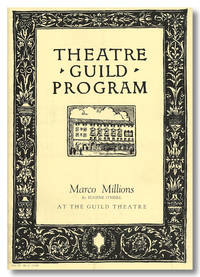 THEATRE GUILD PROGRAM  MARCO MILLIONS BY EUGENE O'NEILL ... [wrapper title]