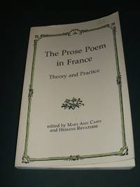 image of The Prose Poem in France Theory and Practice