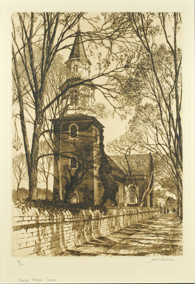 1937. Drypoint etching 10 1/2 x 7 1/2'' on handmade paper, mounted, signed by the artist and numbere...