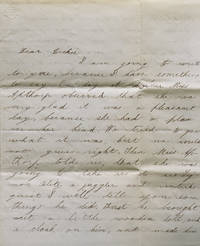 """Autograph Letter Signed (""""Beckie""""), addressed to her 14 year-old brother, Richard Morse, Andover, Mass, detailing the act of Signor Blitz"""
