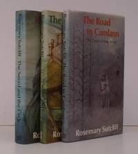image of The Sword and the Circle [with] The Light Beyond the Forest [with] The Road to Camlann. Decorations by Shirley Felts. NEAR FINE SET OF THE ARTHURIAN TRILOGY IN UNCLIPPED DUSTWRAPPERS