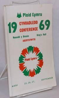 image of Rhaglen cynhadledd 1969, The 1969 conference programme