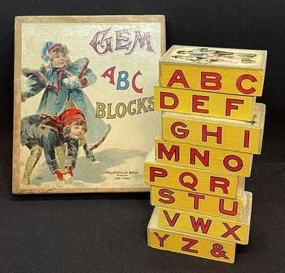 Boxed set Chromolithograph on Wood -...