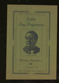 Labor Day Programme, Monday, September 2, 1907, Washington, Pennsylvania by  W. C Black - Paperback - 1907 - from Caliban Books  and Biblio.com