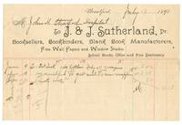 image of Invoice from J. & J. Sutherland, Booksellers, Brantford
