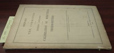 1882. First Edition. Softcover. 8vo., 60 pages, 3 folded plates, tables, graphs; G; white cover with...